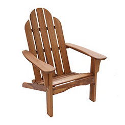 Brown Wooden Folding Adirondack Chair