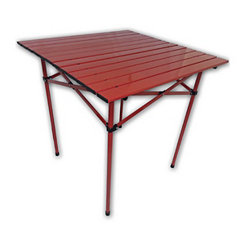 Red Aluminum Portable Table in a Bag
