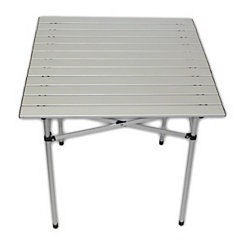 Gray Aluminum Portable Table in a Bag