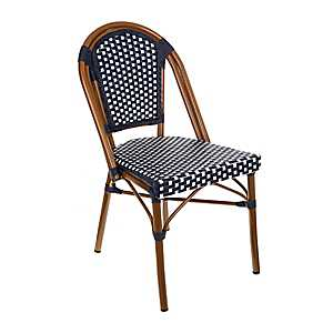 Navy and White Cafe Bistro Chair