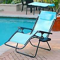 Aqua Zero Gravity Chair with Sunshade and Tray