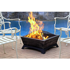 Mason Brushed Black Fire Pit