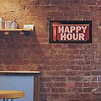 Happy Hour LED Marquee Plaque