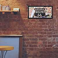 Historic Route 66 LED Marquee Plaque