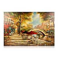 Sidewalk River Walk Canvas Art Print