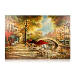 Sidewalk River Walk Canvas Art Print