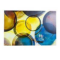 Multicolored Abstract Circles Canvas Art Print
