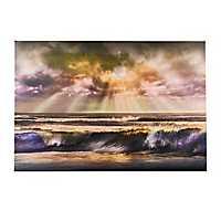 Waves of Light Canvas Art Print