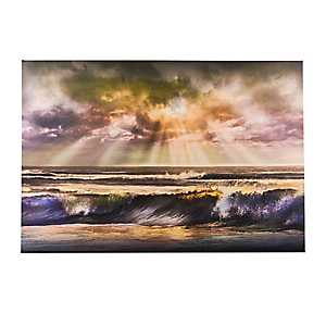 Waves of Light Canvas Art Print