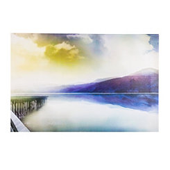 Misty Morning Sunrise Canvas Art Print