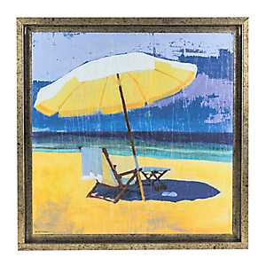 Day at the Beach I Framed Canvas Art Print