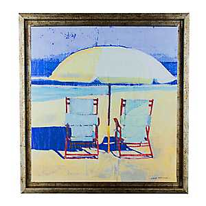 Impressionist Day at the Beach II Canvas Art Print