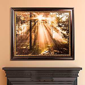 Forest Sunrise Framed Canvas Art Print
