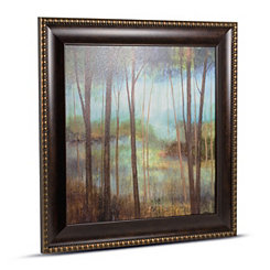 Impressionist Forest Framed Canvas Art Print