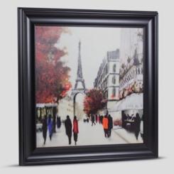 Impressionism in Autumn Framed Canvas Art Print