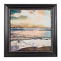 Beach Sunset Framed Canvas Art Print
