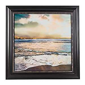 Beach Sunset Framed Canvas Art Print