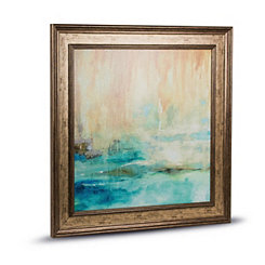 Abstract Impressionism Framed Canvas Art Print