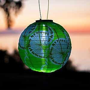 Round Dandelion Solar Lantern, 10 in.