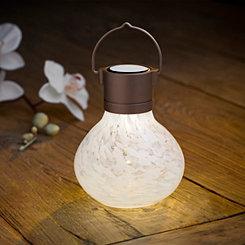 White Solar Tea Lantern
