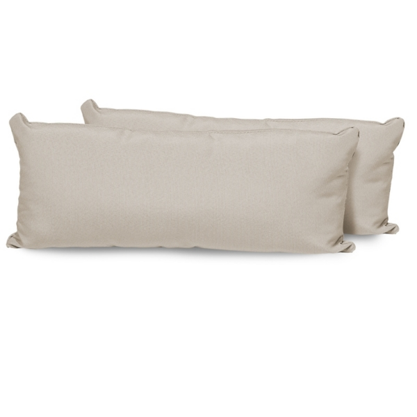 Beige Outdoor Accent Pillows, Set Of 2