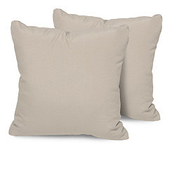 Beige Outdoor Pillows, Set of 2