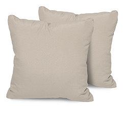 Beige Outdoor Pillows, Set of 2