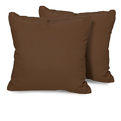 Cocoa Outdoor Pillows, Set of 2
