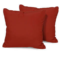 Terracotta Outdoor Pillows, Set of 2