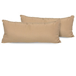 Wheat Outdoor Accent Pillows, Set of 2