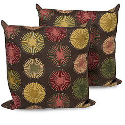 Sunburst Outdoor Pillows, Set of 2