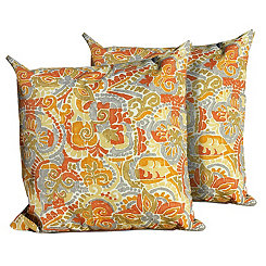 Marigold Outdoor Pillows, Set of 2