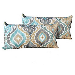 Persian Mist Outdoor Accent Pillows, Set of 2