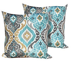 Persian Mist Outdoor Pillows, Set of 2