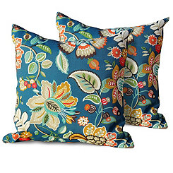 Wildflower Outdoor Pillows, Set of 2