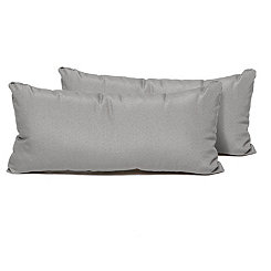Gray Outdoor Accent Pillows, Set of 2