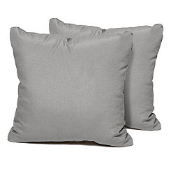 Gray Outdoor Pillows, Set of 2