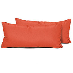 Tangerine Outdoor Accent Pillows, Set of 2