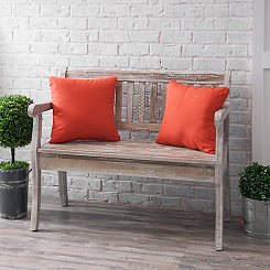 Tangerine Outdoor Pillows, Set of 2