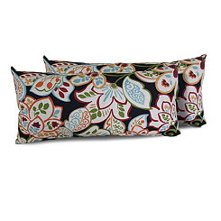 Villa Floral Outdoor Accent Pillows, Set of 2