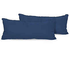 Navy Outdoor Accent Pillows, Set of 2