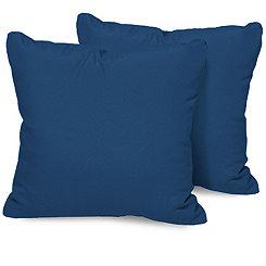 Navy Outdoor Pillows, Set of 2