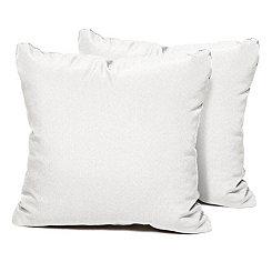 Sail White Outdoor Pillows, Set of 2