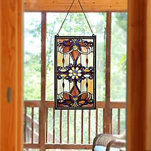 Brandi Stained Glass Panel Plaque