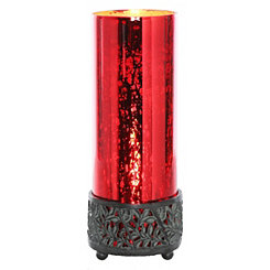 Round Red Mercury Glass Uplight