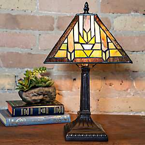 Mission Style Stained Glass Table Lamp