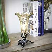 Gold Mercury Glass Lily Uplight