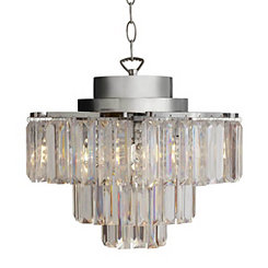 3-Tier Cascading Cordless LED Chandelier