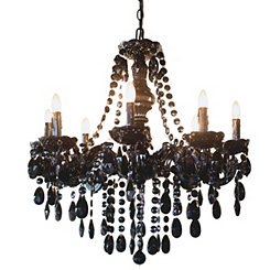 Glam Dame Black Jeweled Chandelier