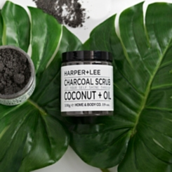 Charcoal and Coconut Oil Body Scrub
